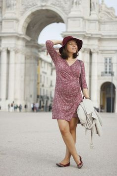 wrap dress, pregnant look