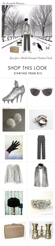 """""""An Invisible Woman..."""" by anna-ragland on Polyvore featuring Jean-Paul Gaultier, Emilio Pucci, Proenza Schouler, Chicwish, contemporary, vintage, fashionset, vintagejewelry, vintageaccessories and vintagecollectibles"""