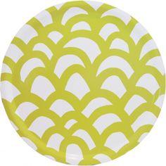 love this camp and cirrus pattern. Cute Kitchen, Kitchen Stuff, Round Tray, Yellow Pattern, Pretty Patterns, Texture Design, Textile Patterns, Textiles, Porcelain Ceramics