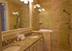 Double shower double sinks