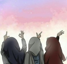 Best Friend Forever Will always be together Best Friends Cartoon, Friend Cartoon, Friend Anime, Girl Cartoon, Cute Cartoon, Cartoon Art, Best Friend Drawings, Bff Drawings, Muslim Pictures