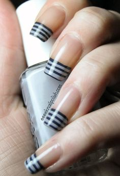 Eeeek nail polish nail color ногти 및 м Love Nails, How To Do Nails, Pretty Nails, My Nails, Striped Nail Designs, Pretty Nail Designs, Nail Art Designs, Nail Art Stripes, Striped Nails