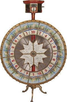 Carnival Game.  spin the wheel and the # you get is the # on the prize you get.