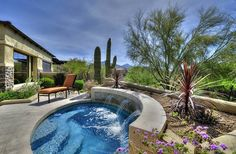 piscinas redondas pequeñas con fuente