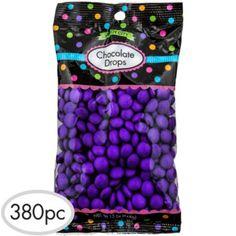 Purple Chocolate Drops 400pc - Party City
