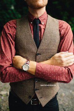 2016 Vintage Brown Tweed Vests Wool Herringbone British Style Custom Made Mens Suit Tailor Slim Fit Blazer Wedding Suits For Men Wedding Suit Men Wedding Vests From Brucesuit, $66.34| Dhgate.Com