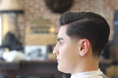 Cut and styled by Don't forget to book your appointment with your barber. Preppy Hairstyles, Classic Mens Hairstyles, Cool Hairstyles For Men, Undercut Hairstyles, Haircuts For Men, Haircuts Straight Hair, Short Hair Cuts, Short Hair Styles, Curly Hair Men