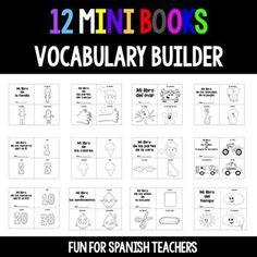 12 Mini-Books for Spanish Class