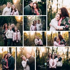 Beautiful family of four fall outdoor portrait session. Photography poses for family with older tween / teen children. What to wear at family portrait session.