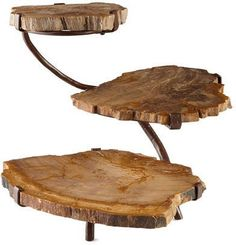 Janice Minor Petrified Wood Three-Tier Server