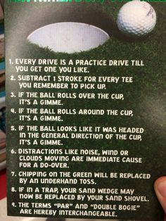 The truths about golfing... Best Happy Father's Day card!