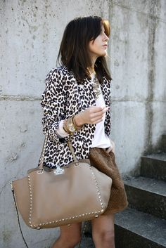 lovely pepa. Neutral camel with leopard