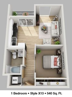 Guest House Plans, Sims House Plans, Small House Plans, House Floor Plans, House Floor Design, Sims 4 House Design, Small House Design, Studio Apartment Floor Plans, Apartment Plans