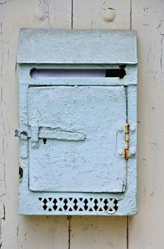[This is exactly the color of my sweet mailbox, but mine has the added patina of a few rusty spots.]