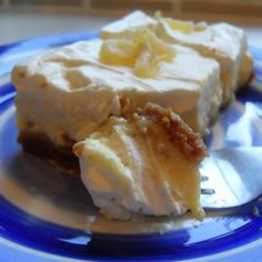 Ginger cheesecake squares at The English Kitchen
