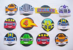 12 BLAZE and the MONSTER MACHINES Edible by SugarKissCakeToppers