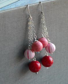 peppermint party earrings vintage lucite and by urbanlegend