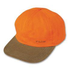 Filson LG Blaze Orange Insulated Tin Cloth Cap 60074 677da5b89
