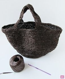 Crochet Raffia Bag - Tutorial ❥ 4U // hf