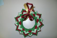 Patterns for No- Sew quilted ornaments and wall hangings. Quilted Christmas Ornaments, Handmade Christmas, Christmas Wreaths, Christmas Crafts, Christmas Decorations, Quilted Fabric Ornaments, Craft Decorations, Holiday Decorating, Christmas Projects