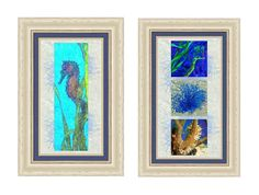 Undersea Matched Pair Example Photograph. Create your own photo-art print pairs from many of my photographs and photo-paintings. All the framing and matting options are selectable on my website, where you can immediately see how your finished prints will look. Coastal and Tropical Photography, Art, and Decor from Susan Molnar Fine Art Photography, Sarasota, Florida.