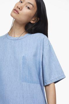 Denim Shirt with Wash Effect