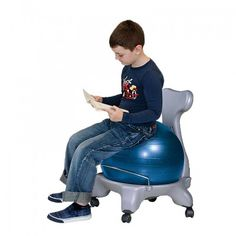 Modern Ball Chair  This chair is great for vestibular stimulation and sensory input.  The child can bounce, move, and still stay productive with their school work.  Helps anxiety and has a calming effect on the CNS.