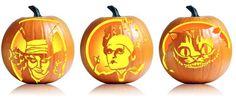 Alice in Wonderland pumpkin stencils