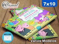 Convite Peppa Pig 7x10cm
