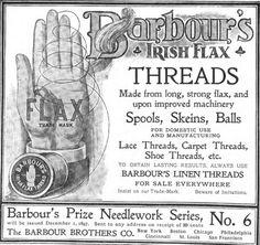 Barbour's Irish Flax 1897