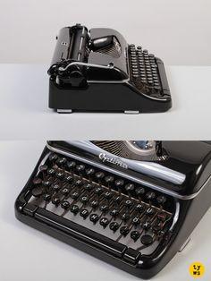 A gorgeous mid-century Optima Elite in a truly mint condition! At *Typewriter Workshop* https://www.etsy.com/shop/TypewriterWshop