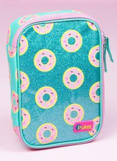 18a17bbcc Estojo Grande Donuts - Puket - R$ 109,90 em Mercado Livre. Porqueeeee,tem  que ser tão caro..... Lissa Pereto · Material Escolar