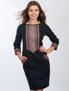 Платье черное с вышивкой - Volyns'ka Vyshyvanka - 2875049
