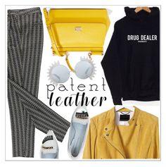"""City Slickers: Patent Leather"" by teoecar ❤ liked on Polyvore featuring Banana Republic, Dolce&Gabbana, Chiara Ferragni, Linda Farrow and turntpanda"