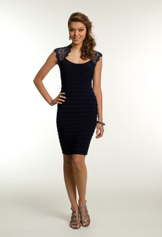 Short Metallic Lace Dress from Camille La Vie and Group USA