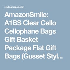 AmazonSmile: A1BS Clear Cello Cellophane Bags Gift Basket Package Flat Gift Bags (Gusset Style (22 In X 8 In X 25 In)): Health & Personal Care