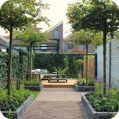 Modern garden design tips Terrace Garden, Garden Spaces, Small Gardens, Outdoor Gardens, Outdoor Sheds, Contemporary Garden, Interior Garden, Small Garden Design, Dream Garden
