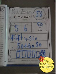 Using our math folders every day to work with numbers!