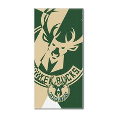 "Bucks National Basketball League, """"Puzzle"""" 34""""x 72"""" Over-sized Beach Towel"