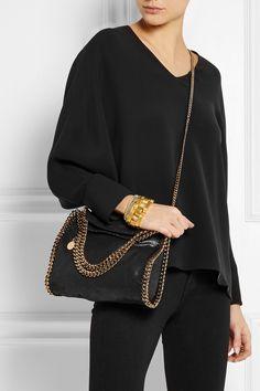 0465d15edecd Stella McCartney - The Falabella mini faux brushed-leather shoulder bag