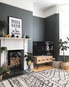 How to decorate your home with black paint. Black living room home decor. Scandinavian inspired living room decor inspiration Source by Viva_La_Villa Victorian Living Room, Mid Century Modern Living Room, Living Room Grey, Living Room Interior, Home Living Room, Living Room Designs, Living Room Accent Wall, Living Room Ideas Terraced House, Living Room Decor Uk