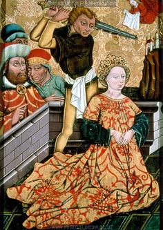 Martyrdom of St. Margaret of Antioch, middle 15th century (1455-1460) Styria, Austria at the church of Sankt Lorenzen ob Murau
