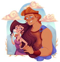 Hercules and Megara fanart. I lvoe this Disney movie and I just needed to make an illustration for this.