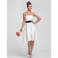 Платье невесты ( Атлас Платье-чехол - Без лямок - Длина до колен – RUB p. 3 119,61