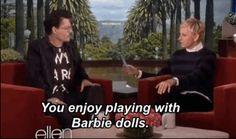 Johnny Depp Plays True Or False With Ellen DeGeneres #lol
