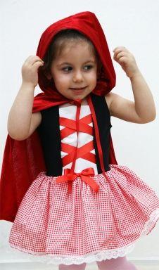 Twinkle Things TKK27A 0-12 Yaş Kırmızı Başlıklı Kız Bebek ve Çocuk Kostümü