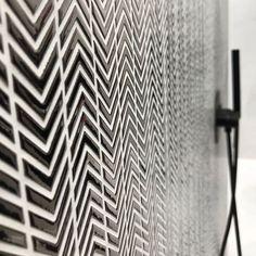 Monochrome chevron arrow mosaic tiles