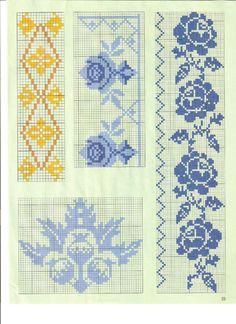 Cross Stitch Boarders, Cross Stitch Designs, Cross Stitching, Cross Stitch Embroidery, Cross Stitch Patterns, Cross Stitch Cushion, Cross Stitch Rose, Tapestry Crochet Patterns, Crochet Tablecloth