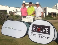 Top three at El Valle, with winner Bjerregaard scooping a prize of 3300 euros