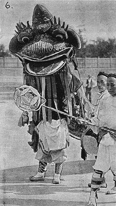 Chinese street procession monster at Bendigo Easter Fair May 1, 1895
